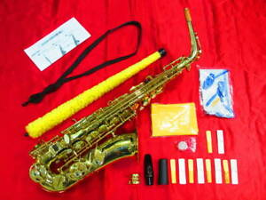 Rare Festi A1500 Gold Color Alto Saxophone with Accessories Shipped from Japan