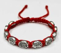 St. Michael the Archangel and the Guardian Angel bracelet on Red Cord Handmade