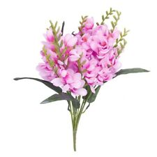 1 x Artificial Freesia Flower Bouquet with 9 Fork Stems for Home Office Wedding