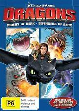 Dragons - Riders Of Berk  / Defenders Of Berk : Season 1-2 (DVD, 2014, 8-Disc Set)