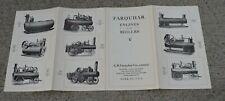 Original Farquhar York PA Tractor Steam Boiler Literature piece