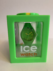 Ice-Watch 000995 Ice-Ola Small Neon Green Silicone Strap Watch Time