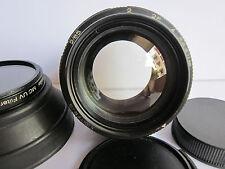 Zenit Jupiter-9 M42 Pentax Screw mt 85mm f2 King of Bokeh lens Hood Caps Filter