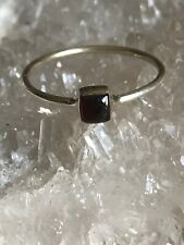 925 Solid Sterling Silver Garnet Ring Size 9 Spirit