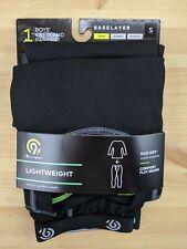 New listing Boys Small Lightweight Baselayer Shirt Pant Set Black C9 Champion 6/8 warm