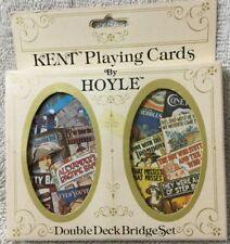 Kent Playing Cards By Hoyle Double Deck Bridge Set Music Records #3451 NIB BX36