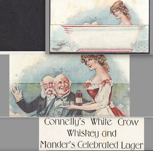 Mander Beer Elmira NY Connelly White Crow Whiskey Bathtub Metamorphic Trade Card