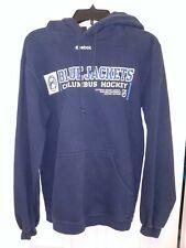 NHL Columbus Blue Jackets Hockey Canon Logo Hooded Sweatshirt Men's Large Blue