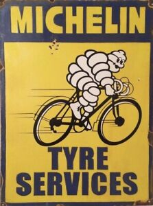 Michelin Tyre Service Yellow advertising sign retro vintage