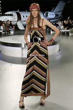 CHANEL 08C NEW $5.6K RESORT PARIS-MIAMI OPEN BACK CHEVRON MAXI DRESS-38,40 NEW