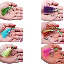 10pcs Flasher Fishing Fish Skin Fishing Lure Rig Bait Catching Fishing Rig Mixed