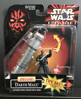 STAR WARS Episode 1 DARTH MAUL Deluxe Action Figure w/lightsaber 1998 NIP #84144