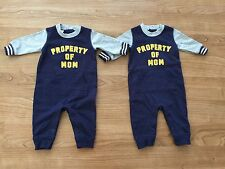"Twins Carter's Baby Boys ""Property of Mom"" Long Sleeve French Terry Jumpsuit"