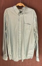 Eddie Bauer Stain & Wrinkle Resistant LS Button Front Plaid Shirt Sz XLT TUB4