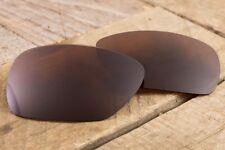 Dark Brown Polarized UV Lenses for Oakley Oil Drum - Light Tungsten Amber Tinted