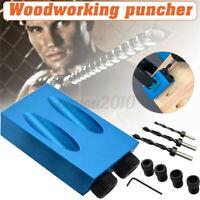 14X Pocket Hole Screw Jig Dowel Drill Joinery Kit 6/8/10mm Woodwork