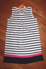 NWT Gymboree Daisy Park Size 8 Black White Striped Ponte Sheath Dress