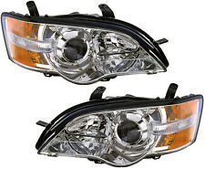 Headlights Headlight Assembly NEW Pair Set for 06-07 Subaru Legacy Outback