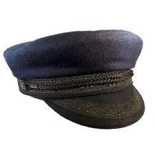 GUY COTTEN Breton Navy Wool Cap-taglia 57 cm, UK: 7, USA: 7 1/8