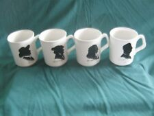 * L@@K * FAMOUS COMPOSER BLACK & WHITE SILHOUETTE on COFFEE MUG * NEW OLD STOCK