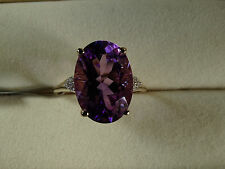 5.37Ct Rare Moroccan Amethyst & Natural Zircon 10K Y Gold Ring Size N-O/7