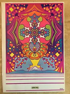"Vtg Peter Max Poster 1970 MCM Mod 11x16"" 2000 Light Years"