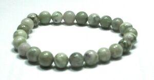 Handmade Spirit Mineral Stone Bracelets - 8 mm Ocean Jasper