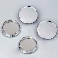 4* 68mm Universal Car Wheel Center Hub Caps Covers Set Chrome Silver SR