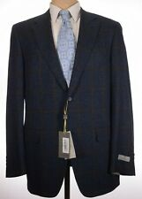 Canali NWT Sport Coat Size 44L In Deep Blue & Brown Plaid Current $1,695