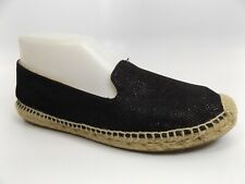 Bettye Muller Women Black Sparkle Leather lined Espadrille Shoes SZ 9.0 M, 11724