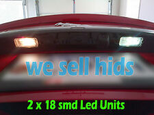2x 37mm CANBUS WHITE LIGHT 3 LED LICENCE NUMBER PLATE INTERIOR BULBS  JGR