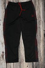AND1 Mens Sweatpants Size Large Basketball Elastic Drawstring Black Athletic