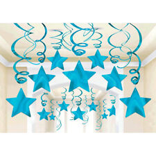 Caribbean Blue Shooting Star Swirl Decorations Graduation Wedding Birthday Party
