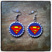 DC Comics Character Bottle Cap Earrings, Necklace & Key Ring