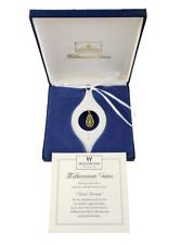 Wedgwood Millennium Gems White Jasper Good Fortune 1999 Christmas Ornament