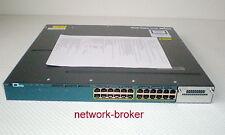 Cisco WS-C3560X-24T-S  24 Port 10/100/1000 + 1x C3KX-PWR-350WAC mit Funktionspro