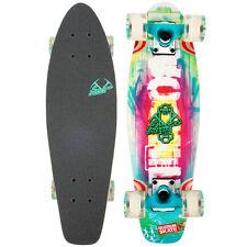 "Retro Wood Cruiser Board Mini Longboard Banana Skateboard Complete FARM_MINT 24"""