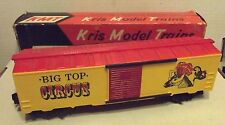 K LINE KMT Kris Model Trains BIG TOP CIRCUS Red & Yellow O 027 Gauge Box Car C-9