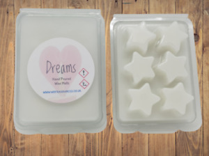 Highly scented wax melts - WAX TARTS - FRAGRANCED CANDLE MELTS STARS VEGAN