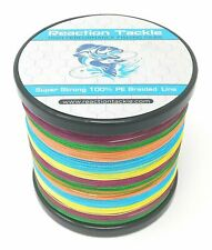 Reaction Tackle High Performance Braided Fishing Line / Braid - Multi-Color