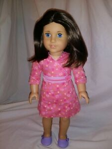 American Girl Doll Chrissa Retired Girl of the Year 2009 shiny brown hair EUC