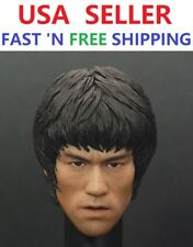 CUSTOM BRUCE LEE 1/6 scale head sculpt for 12'' Male Figure