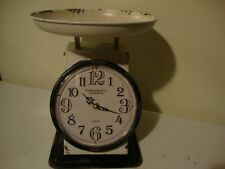 Farmhouse new distressed tin large tabletop Scale CLOCK
