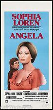 ANGELA LOCANDINA CINEMA FILM SOPHIA LOREN JOHN HUSTON SAGAL 1977 PLAYBILL POSTER