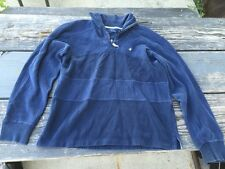 Brooksfield  Blue 1/2 Zip Long Sleeve Men's Jersey/pullover Size Medium