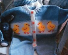 Knitting Pattern Baby/Child's Cute Duckling Romper Suit and Hat 76-85 cm(112)