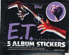 1982 Universal City E.T. (Movie) Album Sticker Packs(3)