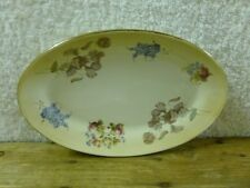 Robert Gordon Studio Gold Trimmed Floral Small Oval Plate/ Platter#1 *EUC