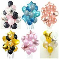 "14pcs/set Confetti BALLOONS Metallic LATEX PEARL12"" Helium Baloon Birthday Party"
