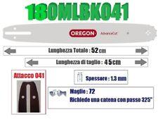 BARRA LAMA OREGON ADVANCECUT 180MLBK041 45cm PASSO 325'' SPESS 1.3mm 72 MAGLIE